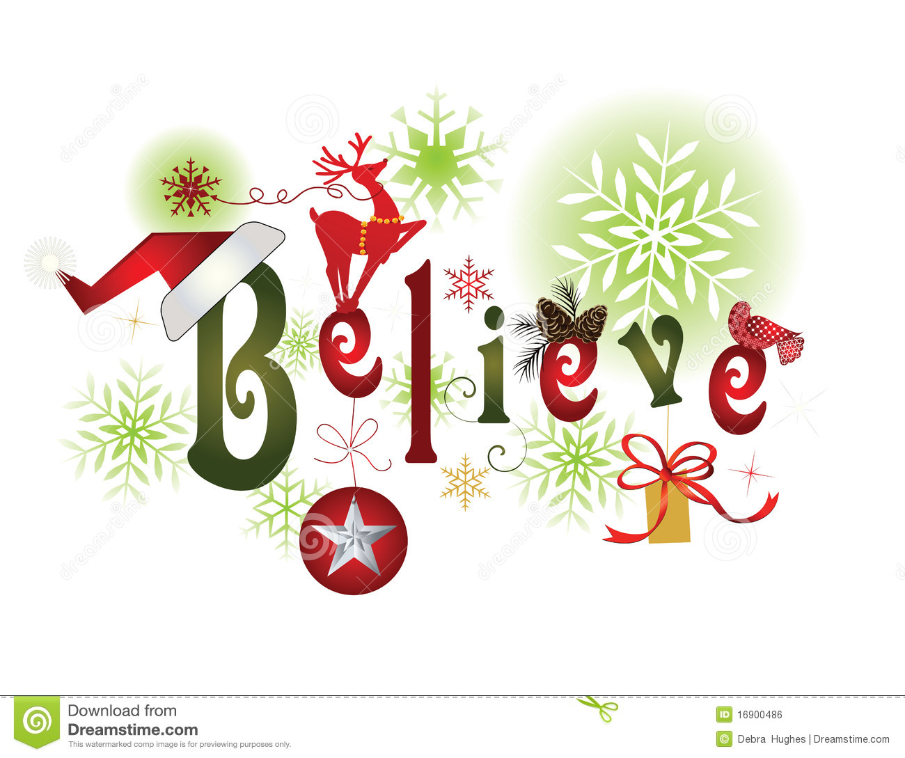 Free christmas message clipart jpg library library BELIEVE -Christmas Message Royalty Free Stock Image - Image: 16900486 jpg library library