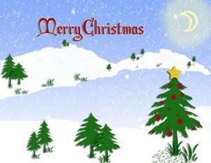 Free christmas message clipart clipart black and white stock Christmas Clipart Picture of a Snowy Lake Scene with Merry ... clipart black and white stock