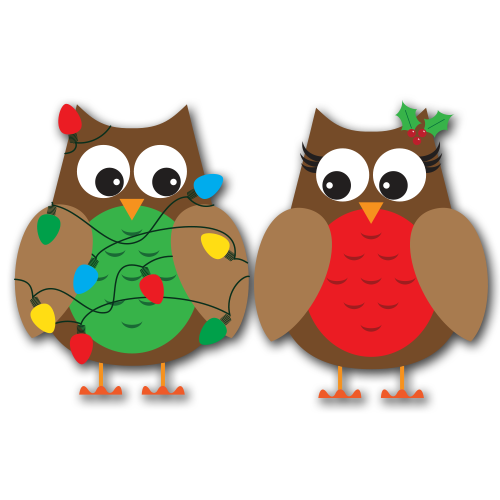 Free christmas owl clipart graphic download Christmas Owls Clip Art SVG | Christmas Season | Christmas owls, Owl ... graphic download
