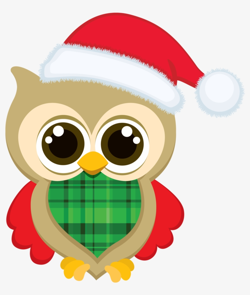 Free christmas owl clipart clipart black and white stock Christmas Owl Clip Art - Christmas Owl Clipart Transparent PNG ... clipart black and white stock