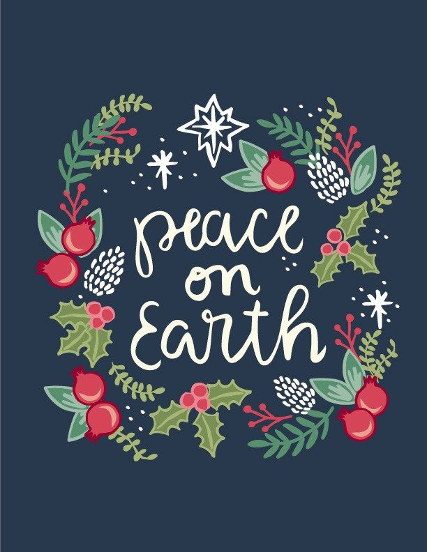 Free christian clipart christmas blessings png freeuse Free Printable Peace on Earth - Christmas Artwork | Office ... png freeuse