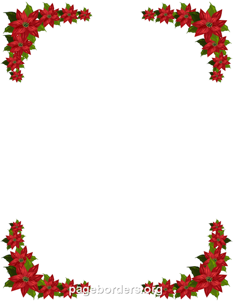 Free christmas poinsettia border clipart picture Pin by Linda Dugan on Christmas & Winter Stationery only | Christmas ... picture