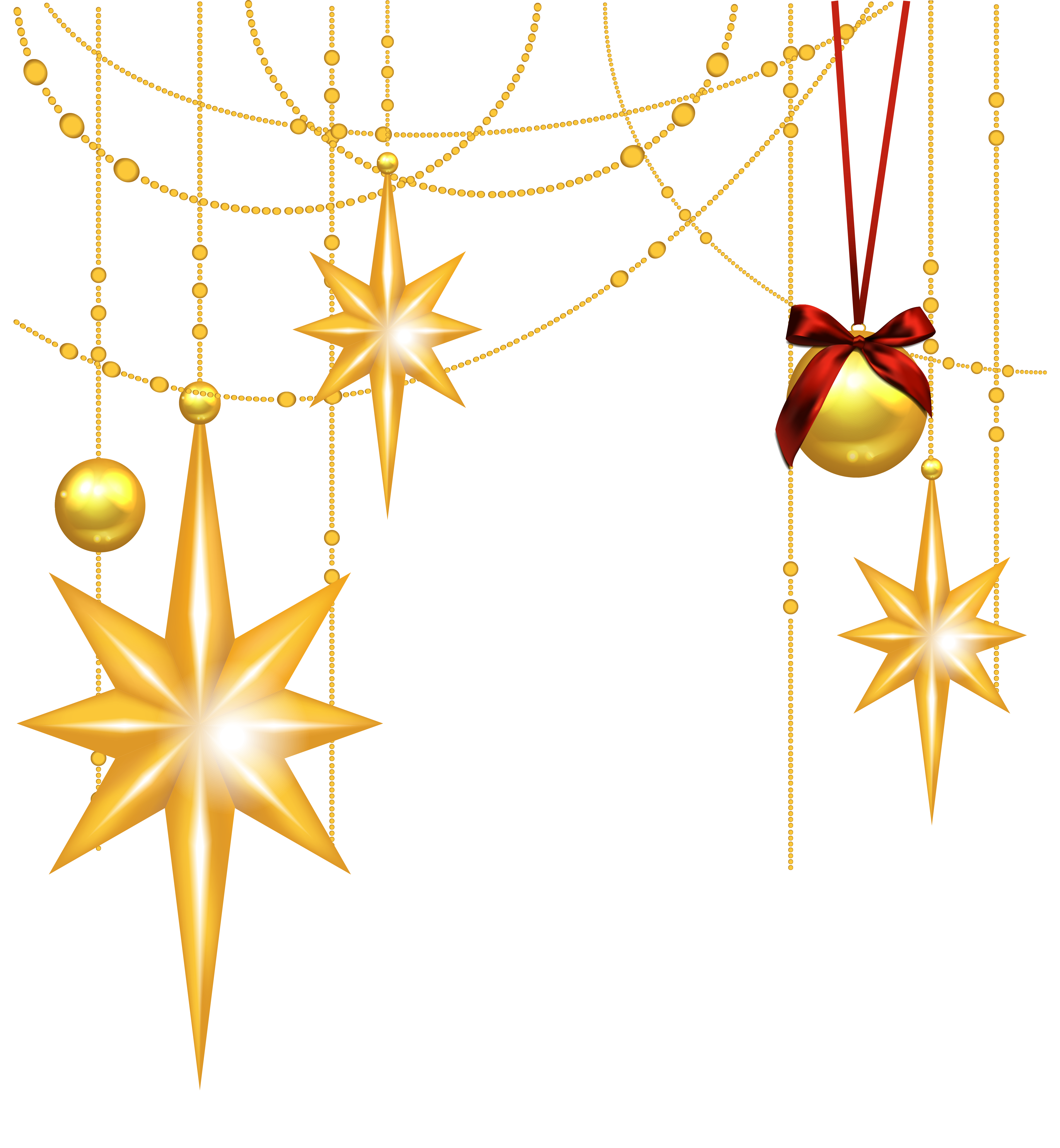Free christmas star clipart clip art library library Transparent Christmas Gold Stars and Ornament Clipart | Gallery ... clip art library library