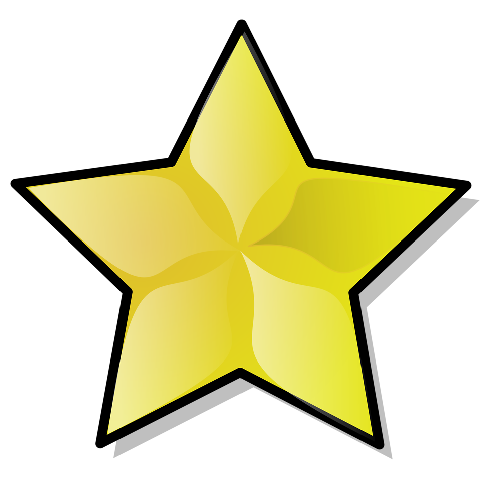 Star rating clipart banner black and white Star | Free Stock Photo | Illustration of a yellow star | # 15566 banner black and white