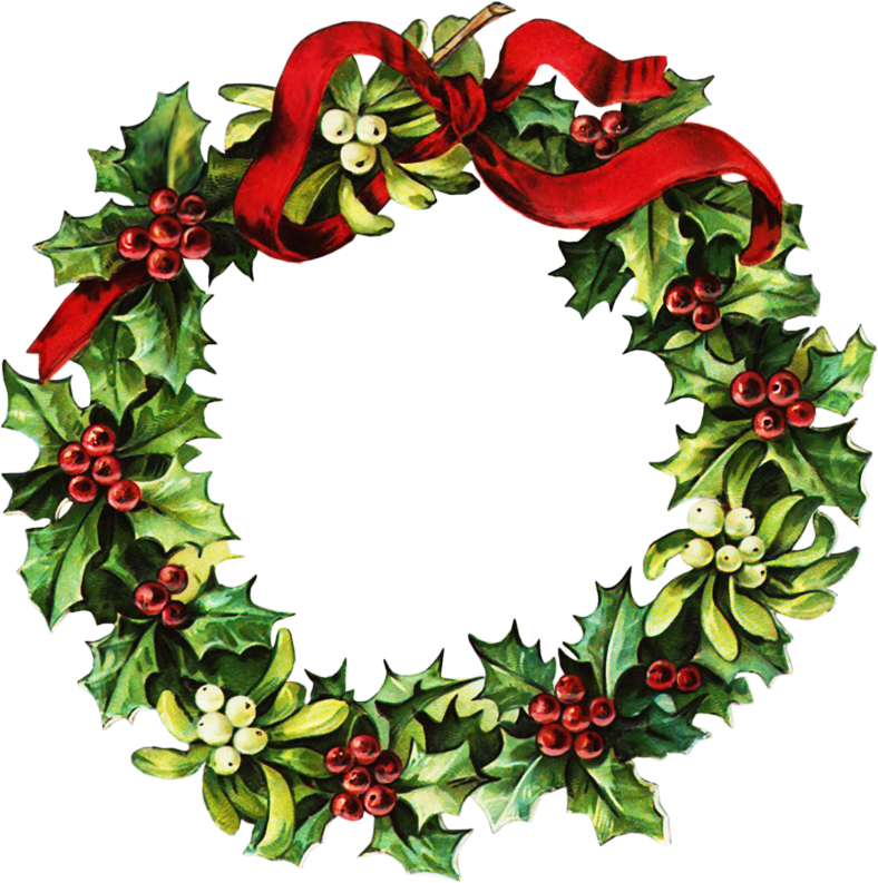 Holly wreath clipart jpg black and white stock Free Christmas Wreath Cliparts, Download Free Clip Art, Free Clip ... jpg black and white stock
