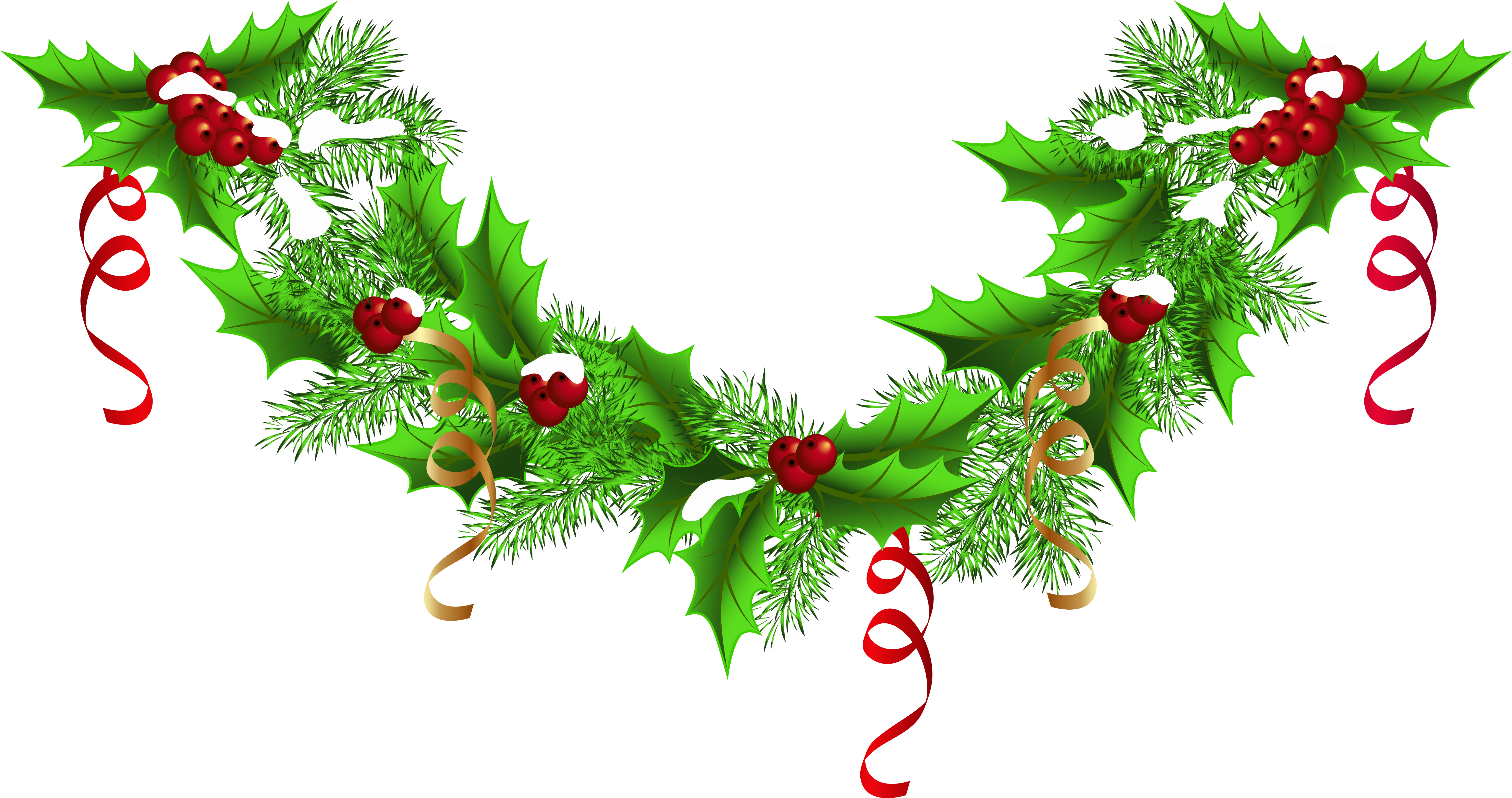 Free christmas wreath border clipart clip library library HD Christmas Garland Border Transparent & Png Clipart - Christmas ... clip library library