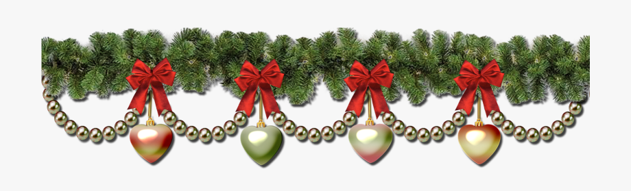 Free christmas wreath border clipart banner royalty free stock Christmas Garland Border Transparent Christmas Wreath - Transparent ... banner royalty free stock