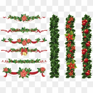 Free christmas wreath border clipart png black and white library Christmas Garland Border PNG Images, Free Transparent Image Download ... png black and white library
