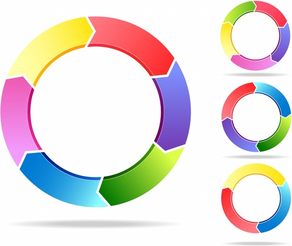 Free circle arrow clipart vector royalty free stock Arrow graphic 3 arrows in a circle free vector download (83,282 ... vector royalty free stock