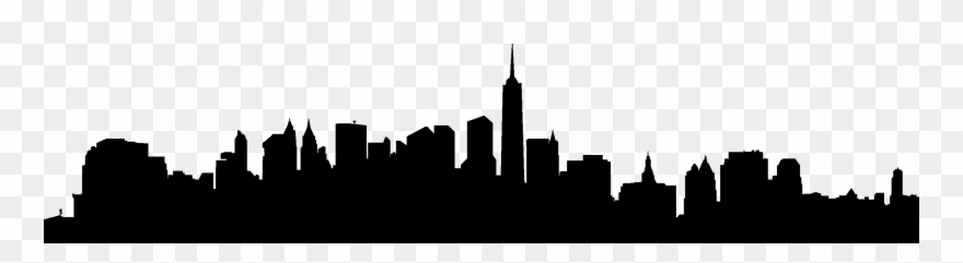 Free city skyline clipart image black and white download City Skyline Silhouette 02 Vector Eps Free Download, - New York ... image black and white download