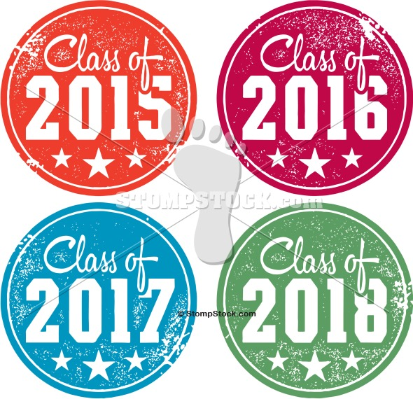 Free class of 2016 clipart clip download Class of 2015 - 2016 - 2017 - 2018 Graduation Stamps   StompStock ... clip download