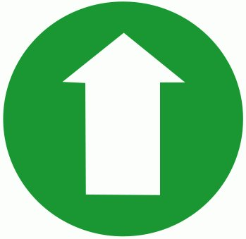 Free clip art arrow circle jpg black and white Free arrow-circle-green-up Clipart - Free Clipart Graphics, Images ... jpg black and white