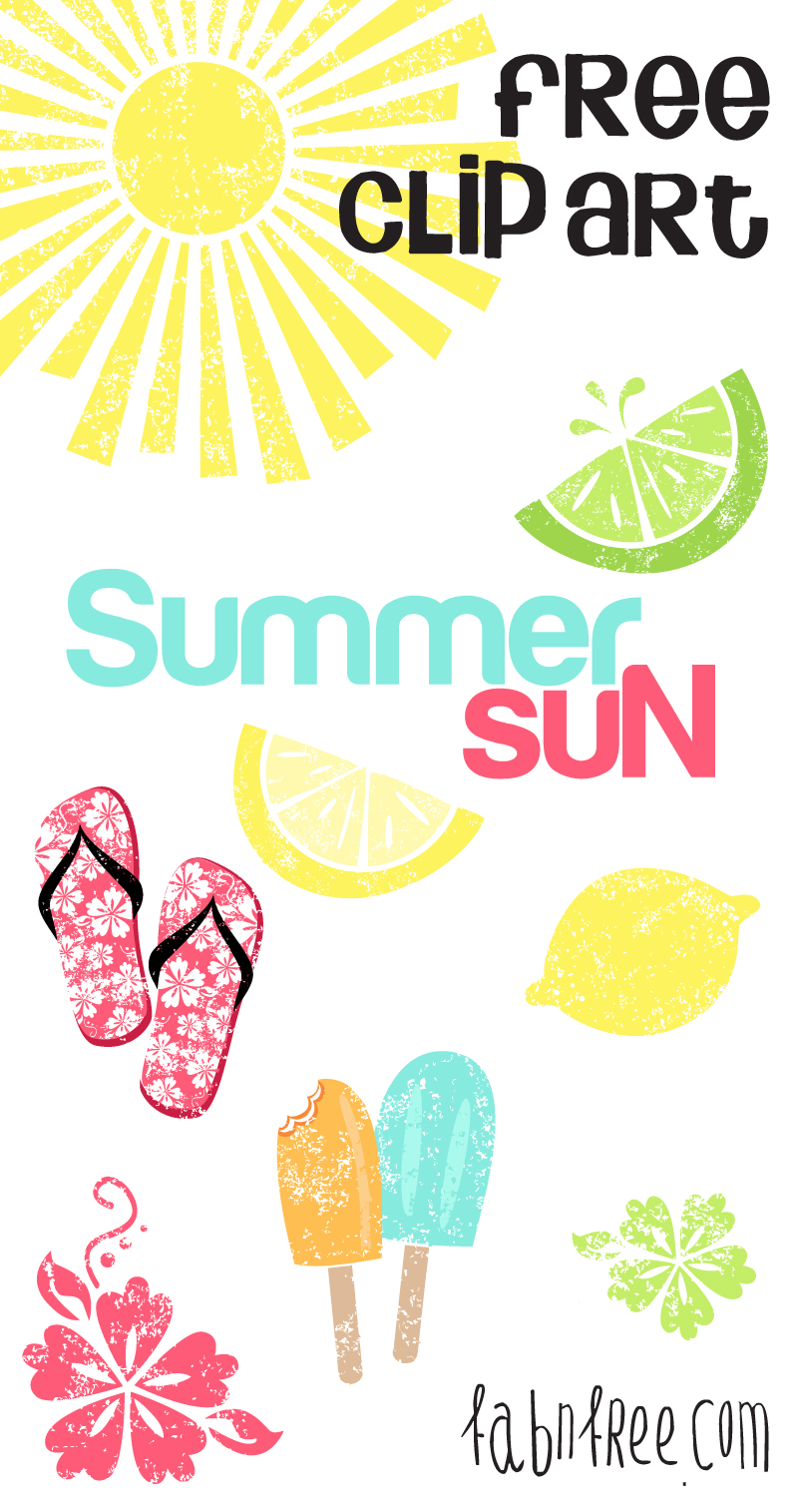 Free clip art for commercial use vector library download Summer // Free Clip Art Set and Journaling Cards | Fab N' Free vector library download