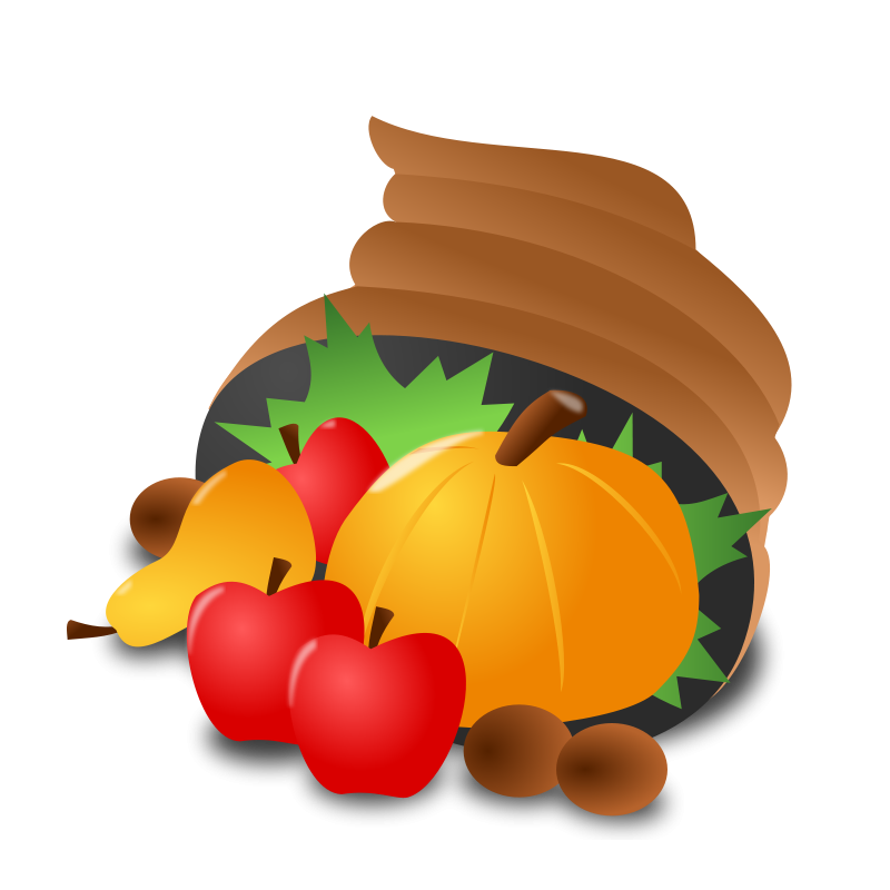 Pumpkin with leaves border clipart free image freeuse library Thanksgiving Clipart - Free Thanksgiving Day Graphics image freeuse library