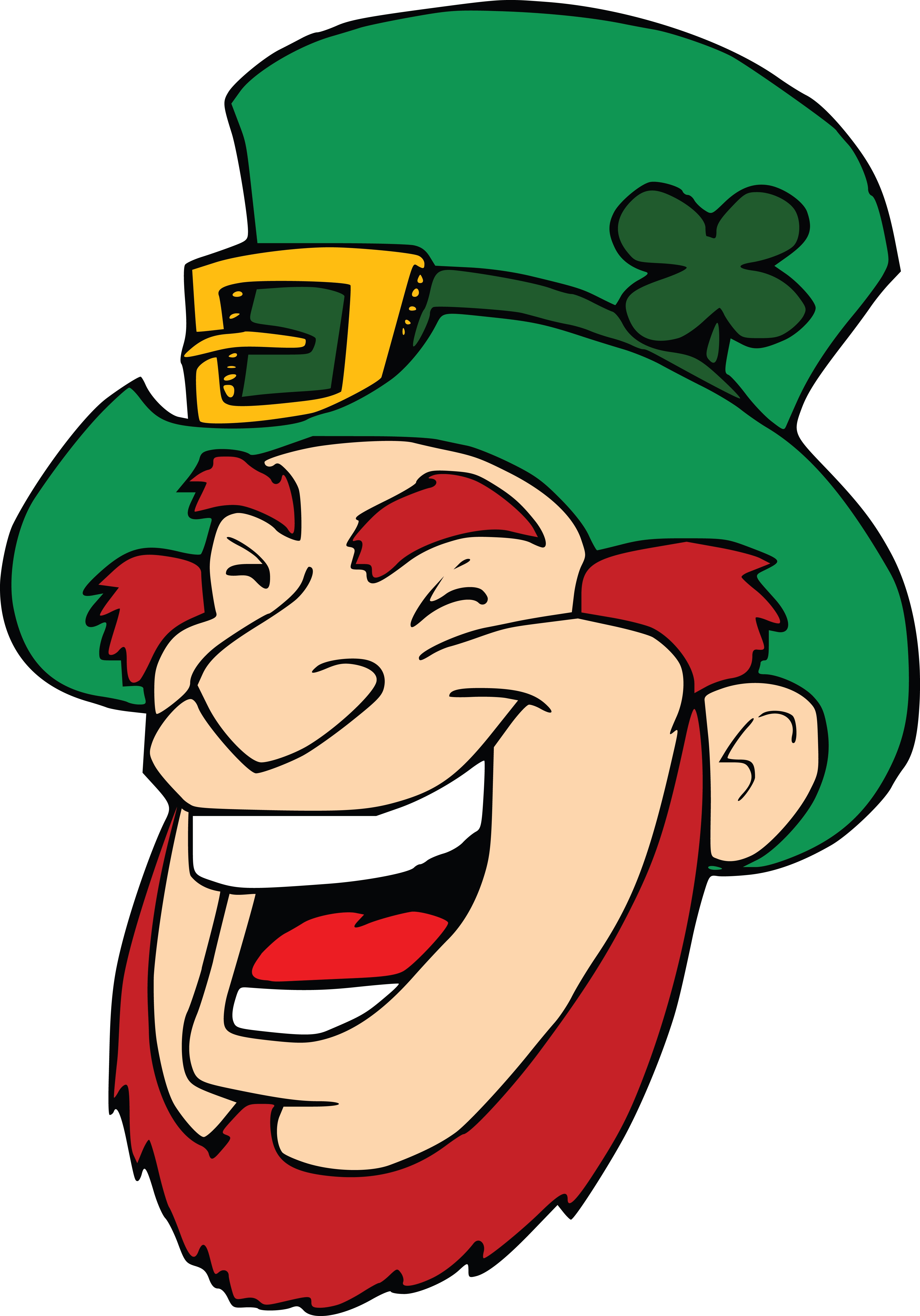 Free clip art laughing picture freeuse stock Clipart Of A Laughing Leprechaun Face picture freeuse stock