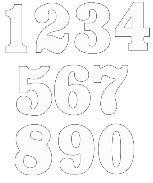 Free clip art numbers 1 10 svg library stock Free Numbers Clipart | Free Craft Project Clipart svg library stock
