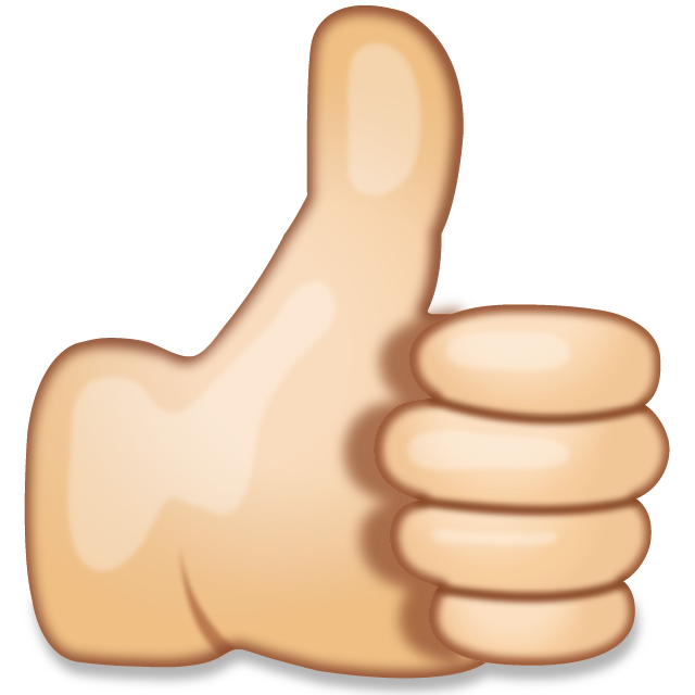 Thumbs up free clip art banner royalty free stock Download Thumbs Up Hand Sign Emoji | Emoji Island banner royalty free stock