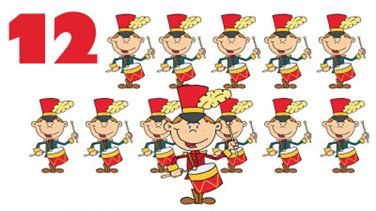 Free clipart printables 12 days of christmas. Songs for children kids