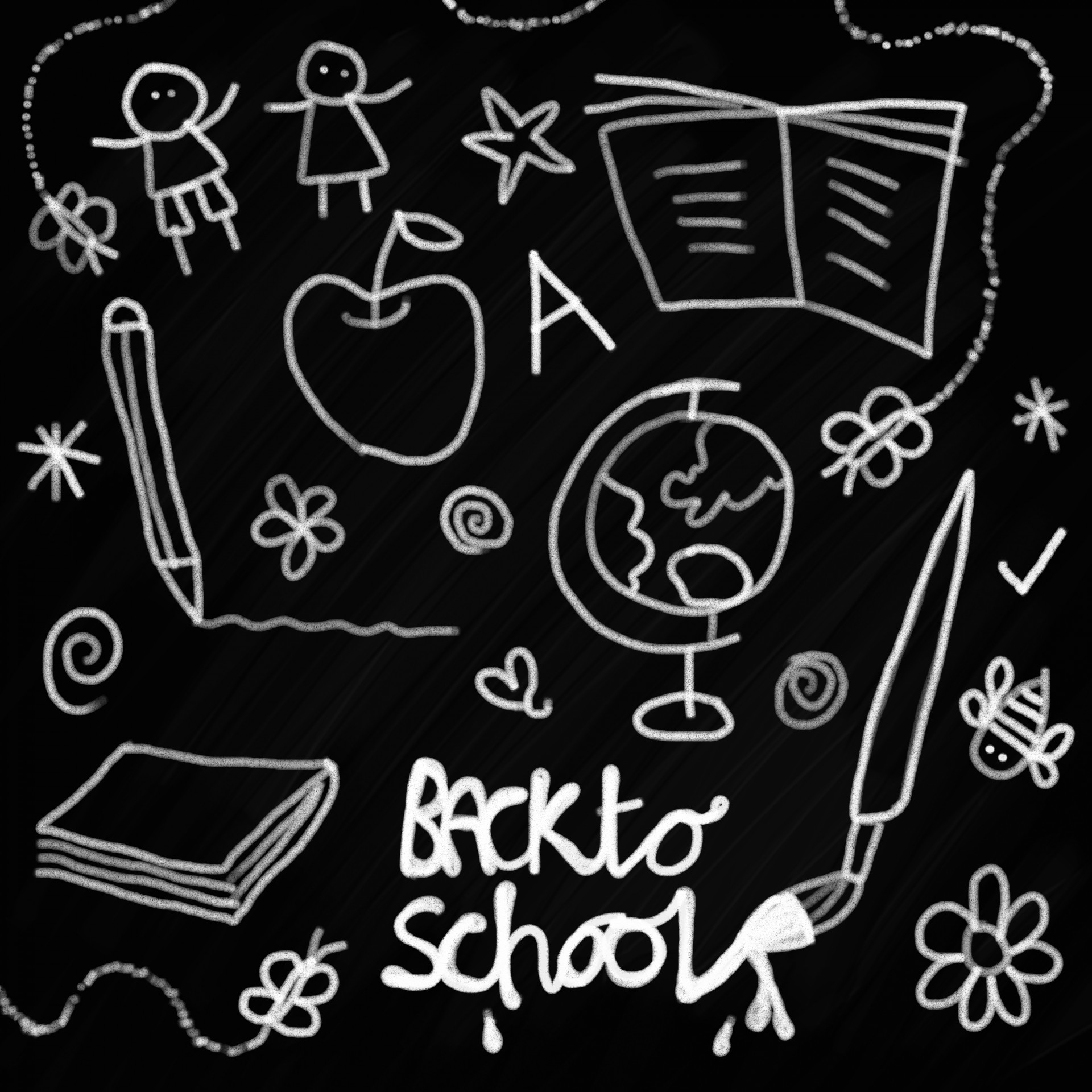 Free clipart 1st day of school black chalk board images png royalty free download A Safe Back to School Season for Kids with \