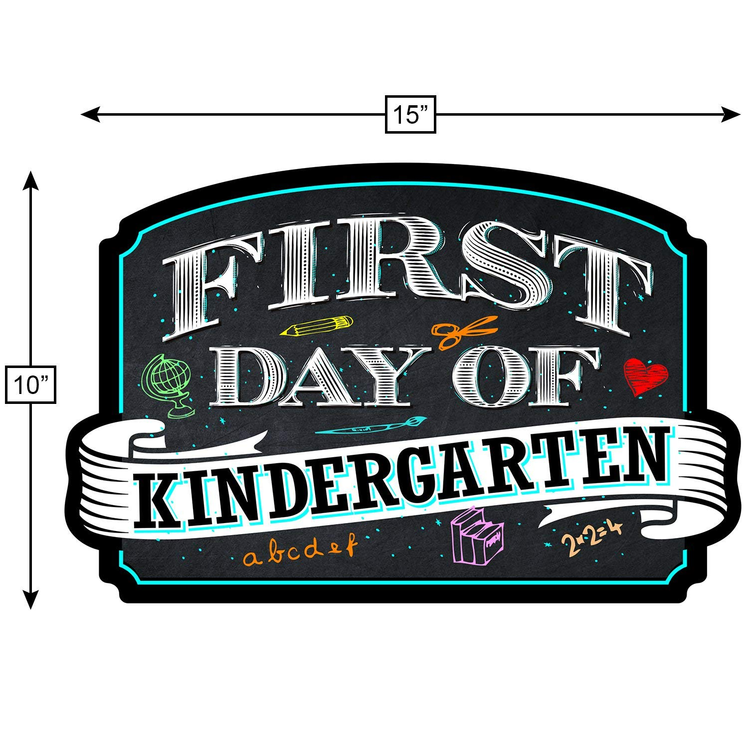 Free clipart 1st day of school black chalk board images clip library Bigtime Signs First Day of Kindergarten Sign Board Plaque Back to School  Sign for use as Photo Prop for a Boy or Girl 10 inches x 15.5 inches ... clip library