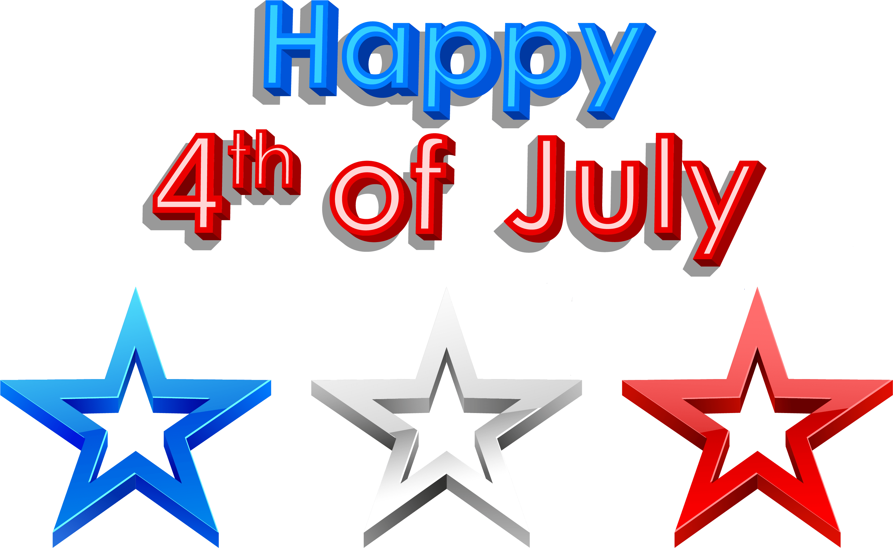 Free clipart 2017 banner free library Free Clipart Images 4th Of July - Happy 4th Of July Png Transparent ... banner free library