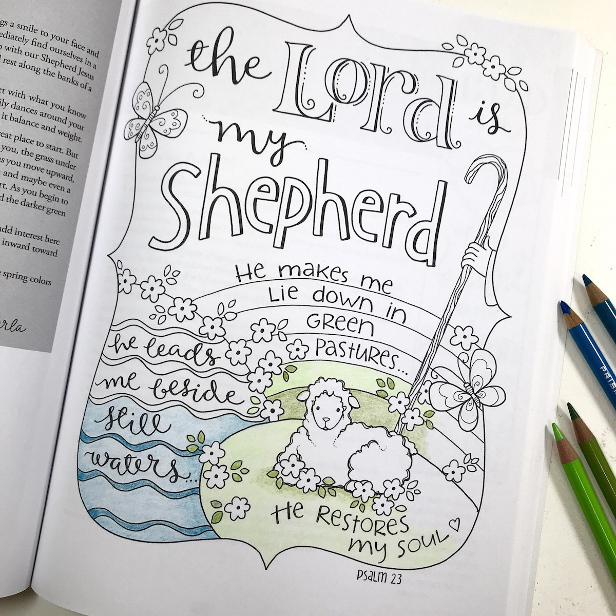 Free clipart 23rd psalm verse 3 coloring pages. The lord is my