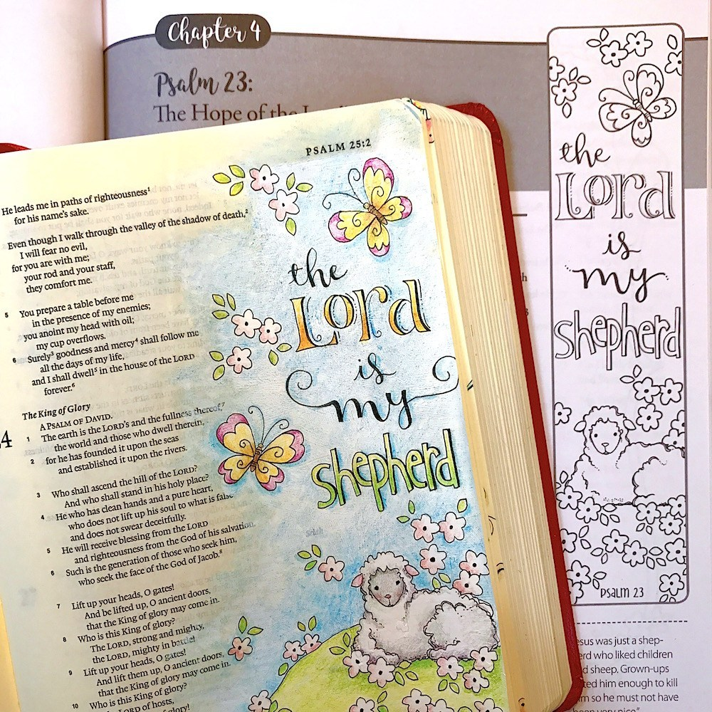 Free clipart 23rd psalm verse 3 coloring pages vector download Psalm 23 The Lord is My Shepherd vector download