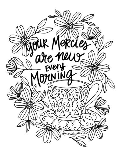Free clipart 23rd psalm verse 3 coloring pages picture transparent Your Mercies - Lamentations 3 23 | Coloring Canvas - Canvas On ... picture transparent
