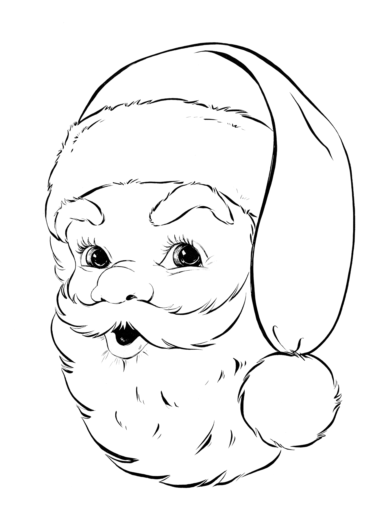 Free clipart 6 year old in black and white. Coloring pages collection of