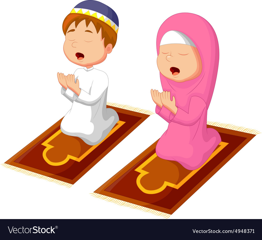 Free clipart a child praying at night picture Muslim kid praying picture