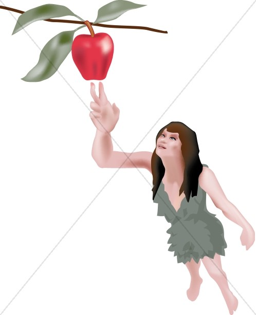 Free clipart adam and eve cast out of eden clipart free library Religious Clipart of Eve in the Garden   Adam and Eve Clipart clipart free library