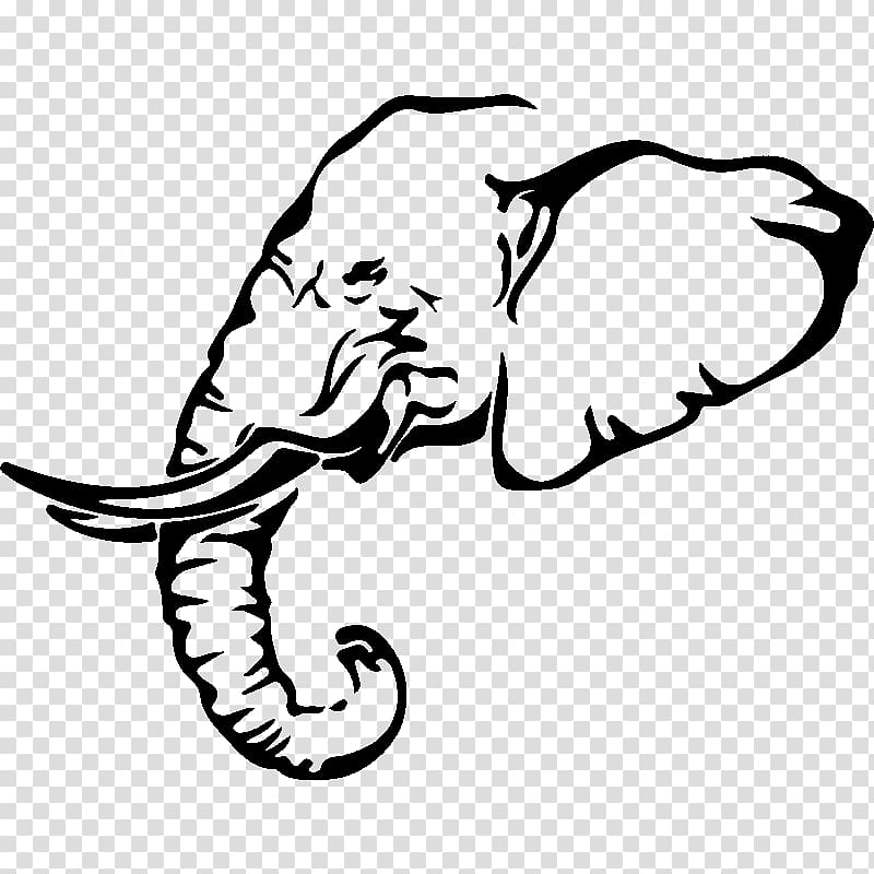 Free clipart african carrying water transparent background clipart freeuse African elephant Drawing Elephantidae, elephant Mandala transparent ... clipart freeuse