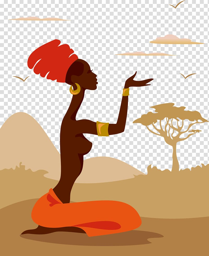 Free clipart african carrying water transparent background clip art freeuse Native female graphic, Silhouette Woman African American ... clip art freeuse