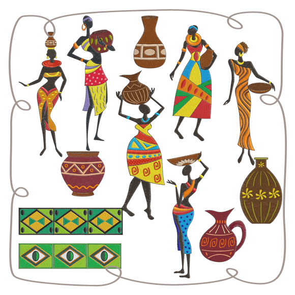 Free clipart african carrying water transparent background vector free library African woman carrying basket on head clipart images gallery for ... vector free library
