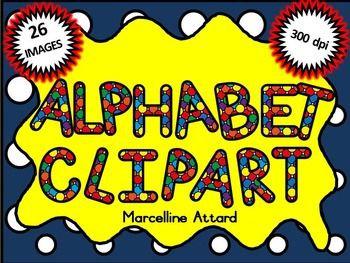 Free clipart alphabet graphic royalty free library Spotty alphabet clipart: uppercase letters clipart: rainbow ... graphic royalty free library