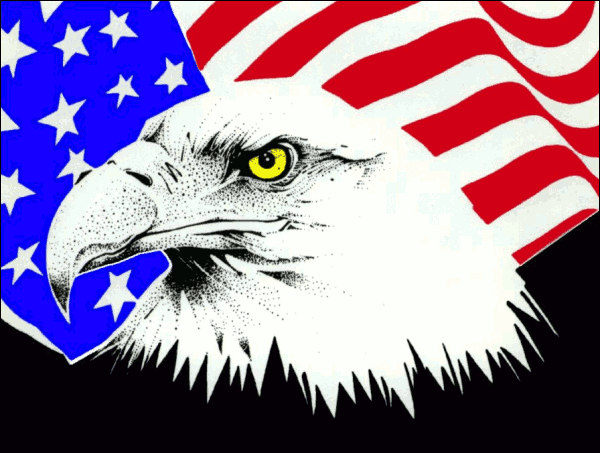 Free clipart american flag and eagle image black and white stock Free American Flag Eagle Pictures Free, Download Free Clip Art, Free ... image black and white stock