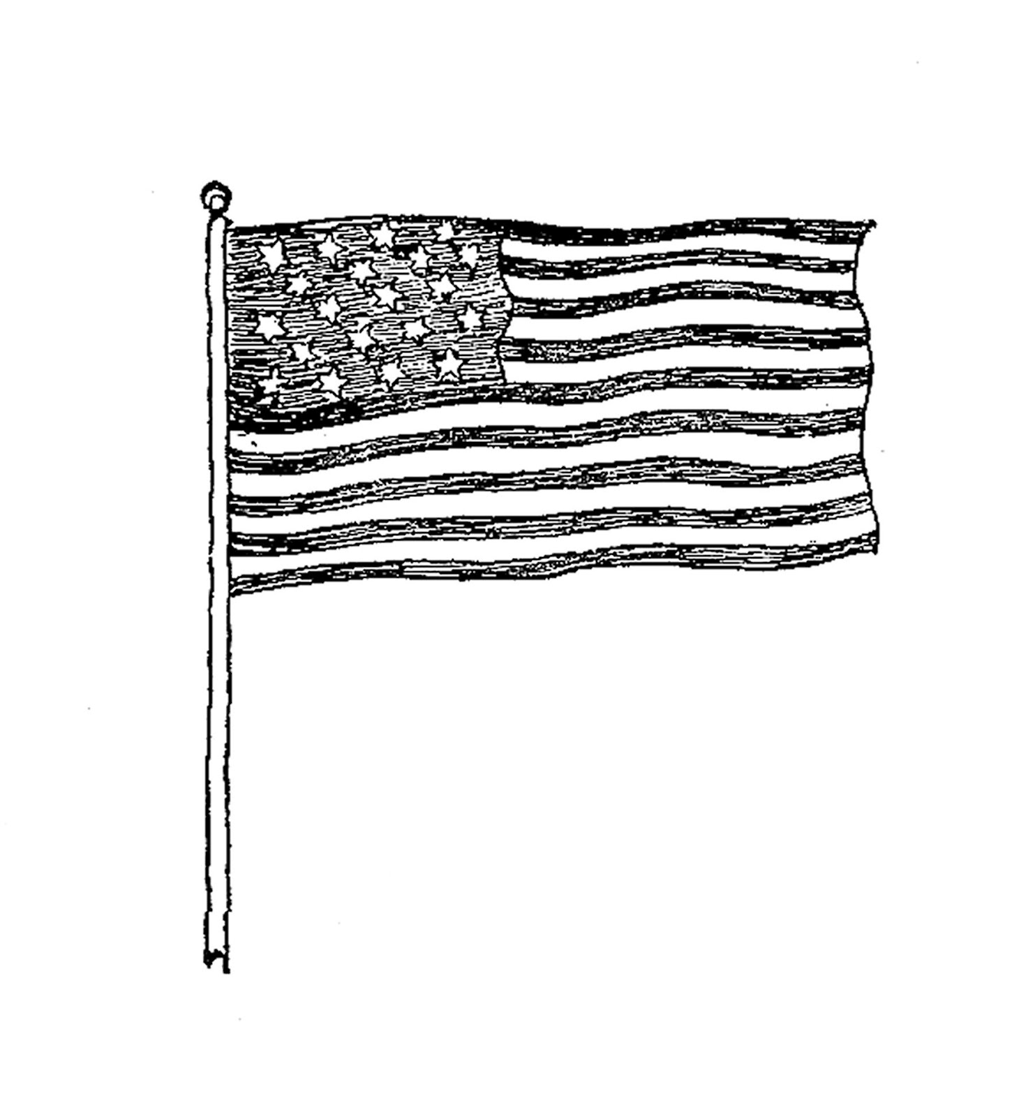 Free clipart american flag black and white picture transparent library Free American Flag Clip Art Black And White, Download Free Clip Art ... picture transparent library