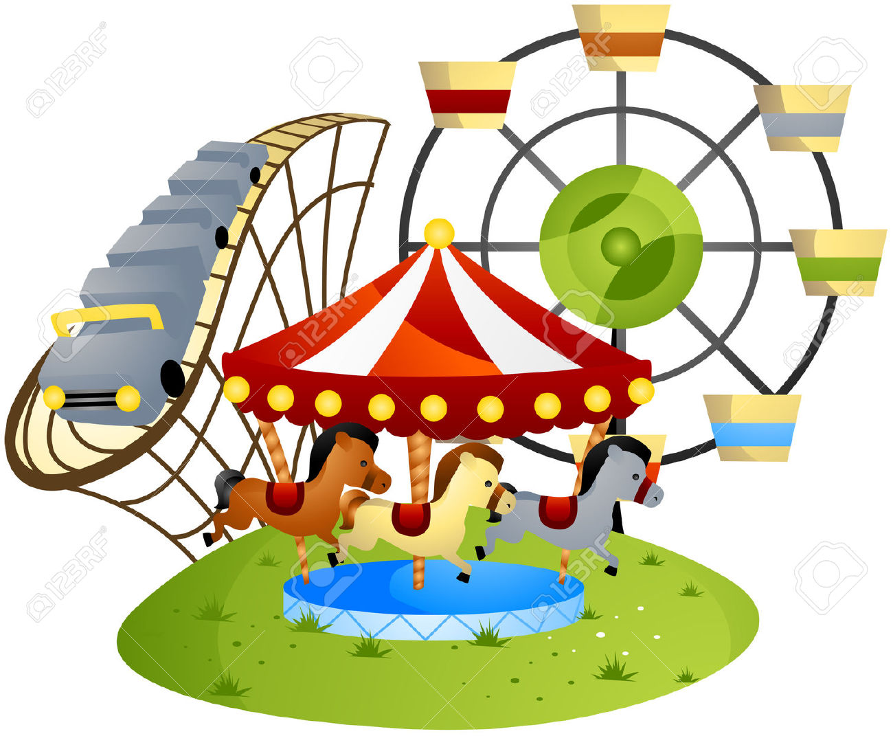 Theme park clipart banner freeuse library 55+ Amusement Park Clip Art | ClipartLook banner freeuse library