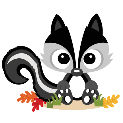 Fall skunk svg scrapbook. Free clipart and downloads of little skunks sayings