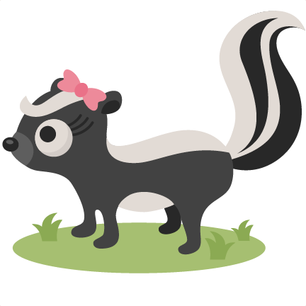 Skunk svg scrapbook cut. Free clipart and downloads of little skunks sayings