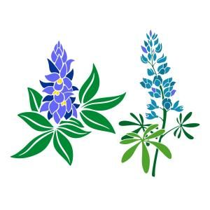 Free clipart and free downloads of bluebonnets clipart black and white stock Bluebonnet Cuttable Designs- Available for FREE today only, Mar 6 ... clipart black and white stock