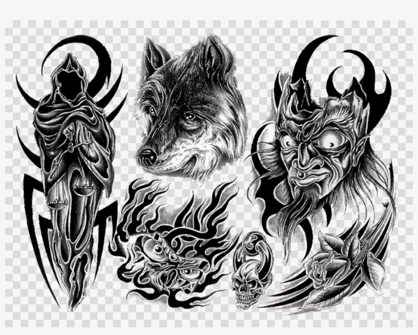 Tattoo designs transparent background. Free clipart and photos tattoos half sleeve