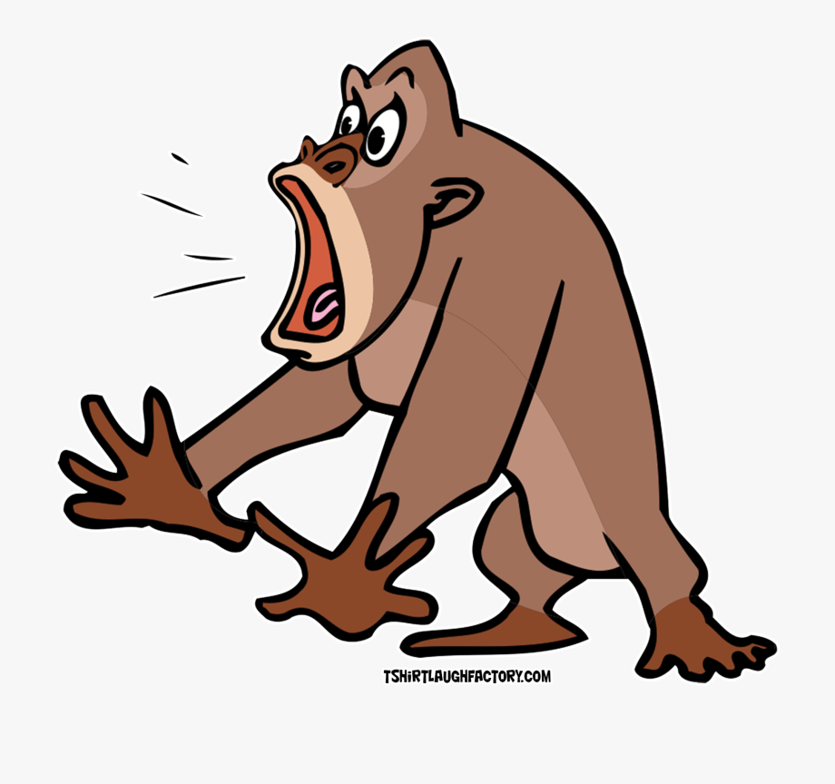 Free clipart animals cartoon image free stock Clipart Animals Gorilla - Scared Animals Cartoon , Transparent ... image free stock