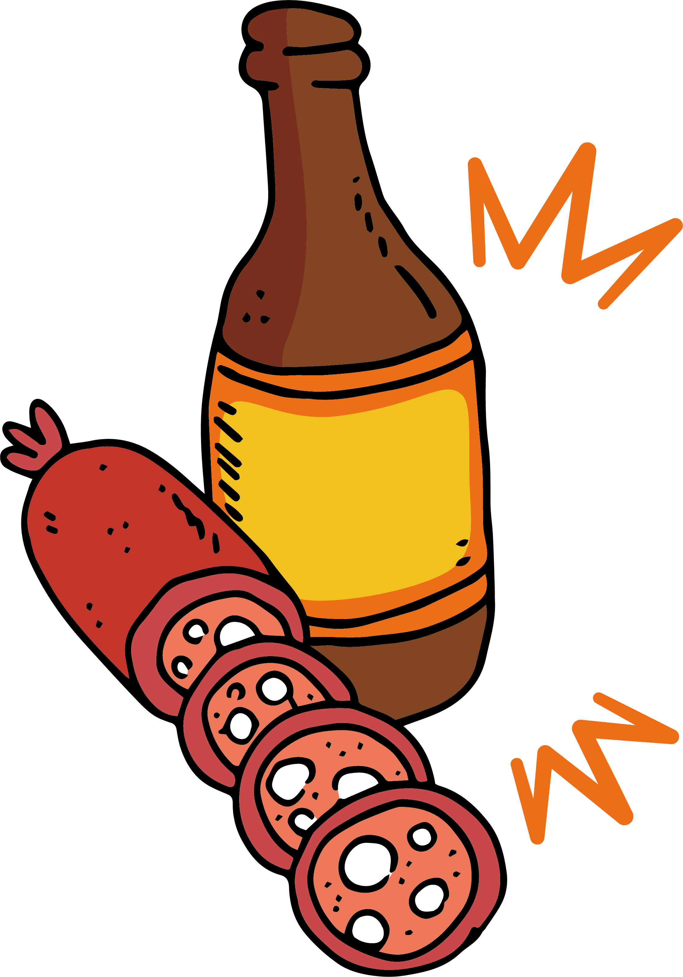 Roasting hot dog clipart jpg freeuse library Sausage Beer Bratwurst Hot dog Clip art - Baked sausage Beer Poster ... jpg freeuse library