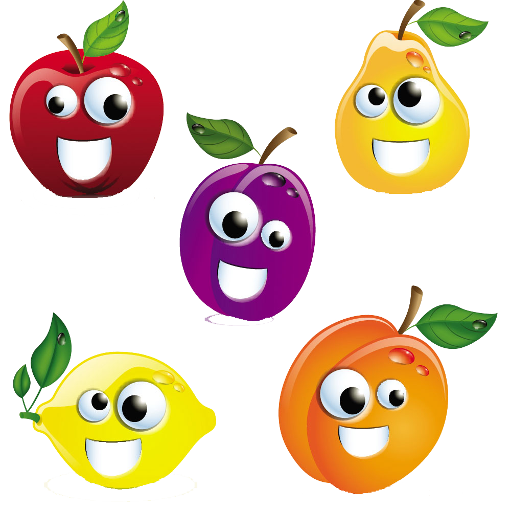 Free clipart apple butter clip art transparent Cartoon Royalty-free Stock photography Clip art - Happy Fruit Combo ... clip art transparent