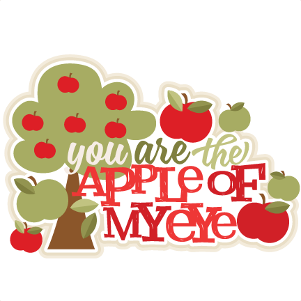 Free clipart apple of my eye picture jpg transparent download You are the Apple of My Eye Title SVG scrapbook cut file cute ... jpg transparent download