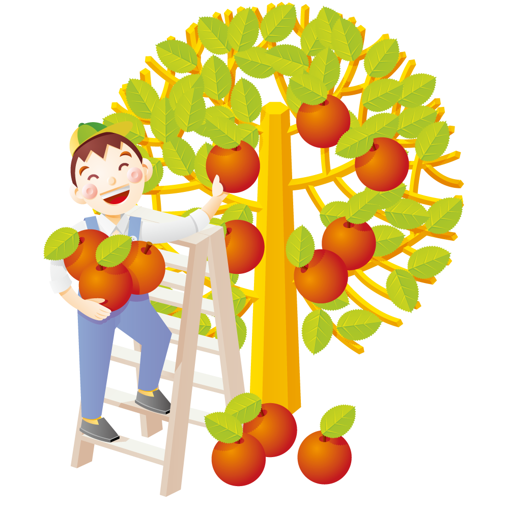 Free clipart apple picking vector transparent download Apple Auglis Illustration - Boy picking apples 1000*1000 transprent ... vector transparent download