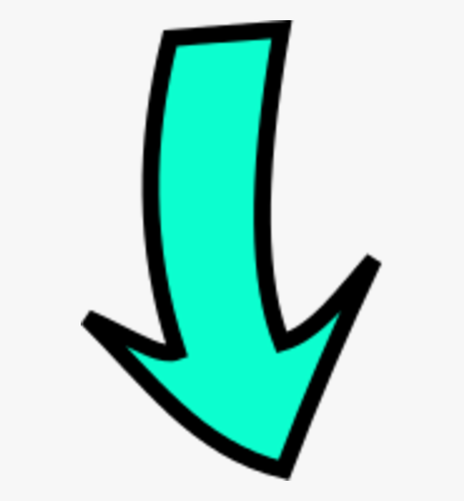 Transparent . Free clipart arrow pointing down