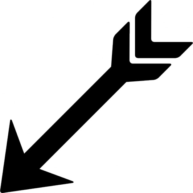 Free clipart arrow pointing left drawn png free download Indian arrow pointing left down Icons | Free Download png free download