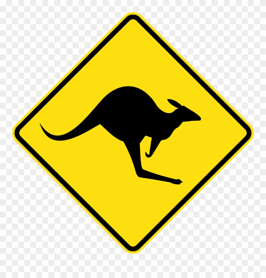 Free clipart australia picture library Clip Royalty Free Collection Of Roads Buy - Australia Kangaroo Sign ... picture library
